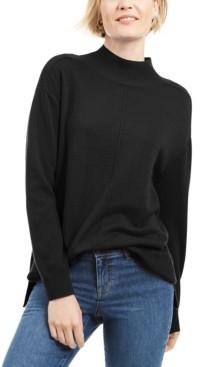 Karen Scott Solid Seam Front Mockneck Top, Created for Macy's