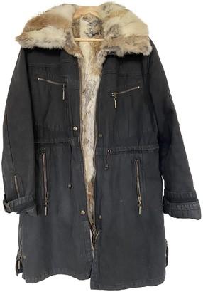 Roberto Cavalli Black Rabbit Coat for Women