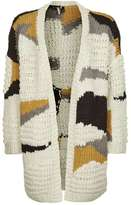 Topshop Hand knitted patchwork cardigan