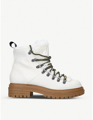 Kg Kurt Geiger Selena faux leather ankle boots