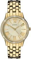 Sekonda Gold Tone Dial Stone Bezel Stainless Steel Bracelet Ladies Watch