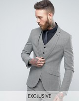 Heart & Dagger Super Skinny Blazer In Dogstooth Tweed