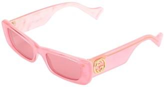 Gucci Fluo Square Acetate Sunglasses