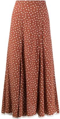Miu Miu High-Waisted Long Silk Skirt