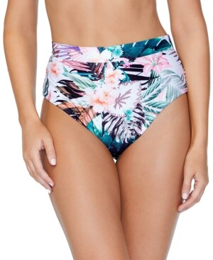 Raisins Juniors' Eco Capsule Printed High-Waist Bikini Bottom, Created for Macy's Women's Swimsuit