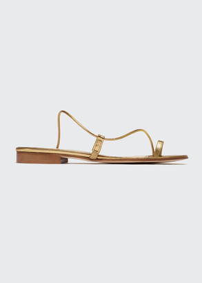 Emme Parsons Susan Toe-Ring Leather Slide Sandals