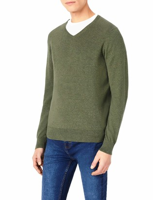 Meraki Amazon Brand Men's Lightweight Cotton V-Neck Jumper
