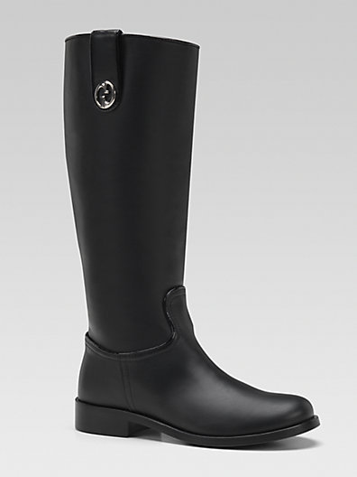 Gucci Girl's Leather Riding Boots