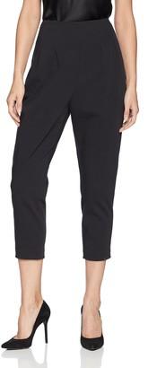 BCBGMAXAZRIA Women's Pleated Cropped Pant