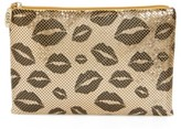 Whiting & Davis Kisses Metallic Clutch - Metallic