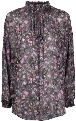 IRO Abstract Floral Print Blouse