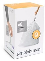 Simplehuman Code Q Custom Fit Bin Liners 3 x 20 Pack CW0264