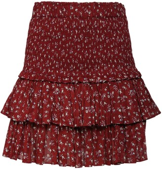 Etoile Isabel Marant Naomi Printed Cotton Voile Mini Skirt