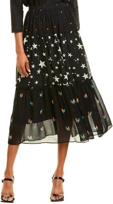 Farm Rio Mixed Stardust Maxi Skirt