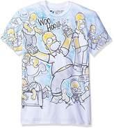 Liquid Blue Men's Simpsons Homer Time All Over Print Short Sleeve T-Shirt