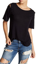 David Lerner Lace Up Sleeve Tee