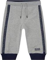 HUGO BOSS Logo Stripe Sweatpants, Grey, 6 Months
