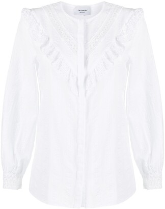 Dondup Ruffle-Panel Cotton Shirt