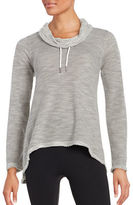 Calvin Klein Asymmetrical Cowlneck Long Sleeved Performance Pullover