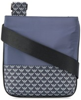 Emporio Armani monogram print messenger bag