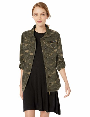 Urban Republic Women's Juniors Cotton Twill Shirt Jacket