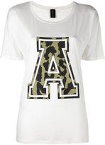 Alexandre Vauthier varsity style T-shirt - women - Silk/Viscose - 3