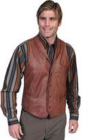 Scully Men's Whip Stitch Leather Lapel Vest 206
