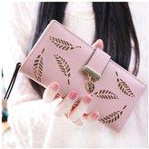 Topda123 Women's Long Wallet E;egant Hollow Leaf Card Holder Purse Clutch