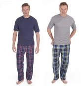 Mens Cargo Bay Pyjama Pj Set Short Sleeve Cotton Blend Loungwear