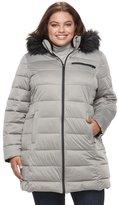 Apt. 9 Plus Size Stretch Hooded Faux-Fur Trim Puffer Jacket