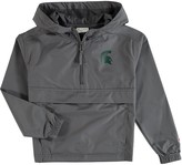 Champion Youth Graphite Michigan State Spartans Pack & Go Quarter-Zip Windbreaker Jacket