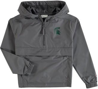 Champion Youth Graphite Michigan State Spartans Pack & Go Quarter-Zip Windbreaker Jacket