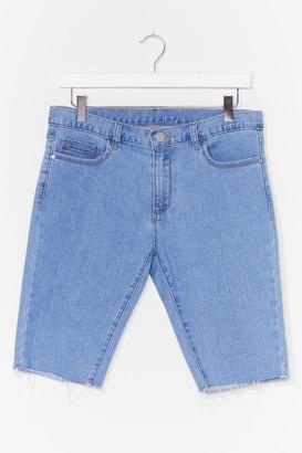 Nasty Gal Womens Raw Emotions Denim Biker Shorts - Blue - XL, Blue