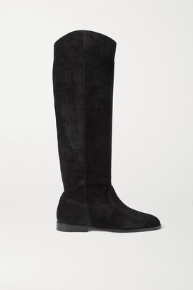 Jimmy Choo Bree Suede Knee Boots - Black