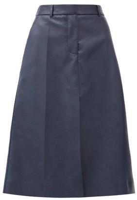 Stella McCartney Alisha High-rise Faux-leather Midi Skirt - Navy
