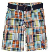 US Polo Association U.s. Polo Assn. Boys' Belted Plaid Short.
