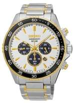 Seiko Stainless Steel Solar Bracelet Chronograph Watch