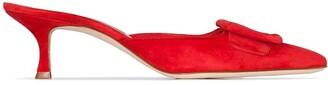 Manolo Blahnik Maysale 55 mm heel mules