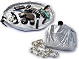 """Lay-n-Go Cosmo Cosmetic Bag (20"""", Silver)"""