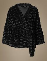 Marks and Spencer Faux Fur Kimono Short Dressing Gown