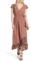 Band of Gypsies Women's Faux Wrap Maxi Dress