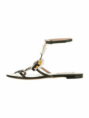 Valentino Love Me Not Leather Gladiator Sandals Green