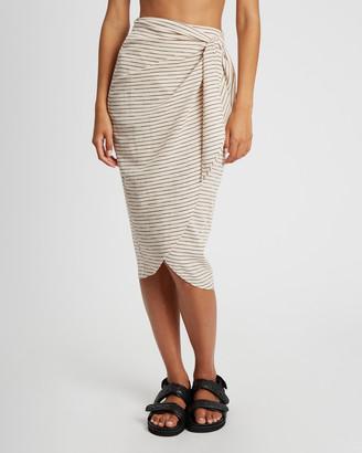 ST MRLO - Women's Neutrals Midi Skirts - Naples Skirt - Size One Size, 10 at The Iconic