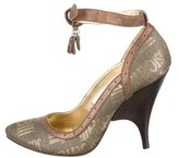 Just Cavalli Metallic Logo-Embellished Pumps