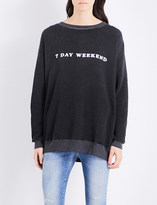 Wildfox Couture 7 Day Weekend cotton-blend sweatshirt