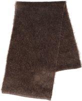 Lardini Wool Mohair Herringbone Knit Scarf