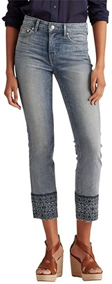 Lauren Ralph Lauren Premier Straight Ankle Jeans in Highland Indigo Wash (Highland Indigo Wash) Women's Jeans