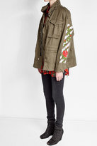 Off-White Off White Embroidered Cotton Military Jacket