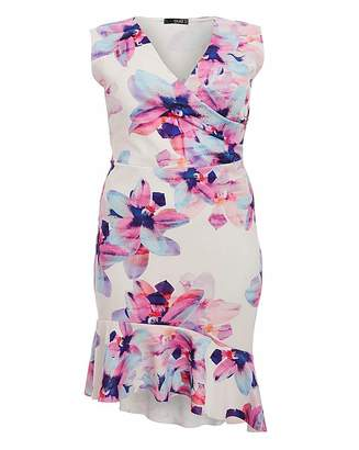 Quiz Curve Quiz Bodycon Floral Dress