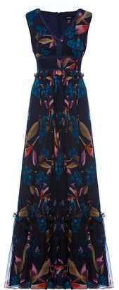 Nissa Silk Maxi Dress